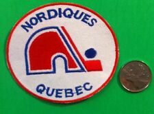 Quebec Nordiques Vintage NHL- Crest/Logo Patch  3.25 x 2.75 Inch sew on/iron On