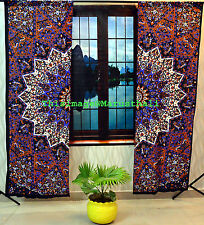 Indian Psychedelic Mandala Curtains Tapestry Drapes Window Tapestries MCRN00013