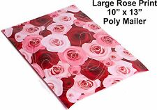 New listing (40) Rose Flowers Print 10 x 13 Poly Mailers Self Sealing Envelopes Bags Color
