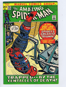 Amazing Spider-Man #107 Marvel 1972 Spidey Smashes Thru !