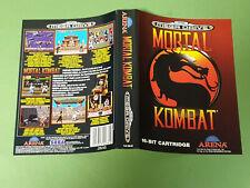 Sega Mega Drive Case Insert Artwork - Mortal Kombat *No Game*