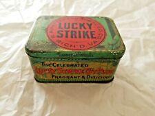 Vintage 8 oz. Lucky Strike Tobacco Tin, cut plug, Gd. cond. 1920's