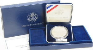 2002 US Mint Olympic Winter Games Proof Silver Dollar Commemorative Coin
