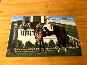 1940 KENTUCKY DERBY WINNER GALLAHADION POST CARD NEAR MINT