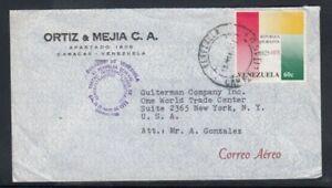 VENEZUELA Commercial Cover Caracas to World Trade Center 10-5-1977 Cancel