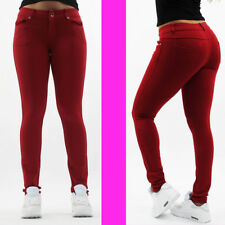 Womens Jeans Skinny Stretchy Jeggings Ladies New Fit Coloured Slim Fit Trousers