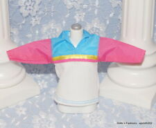 Skateboard Whitney Stacie Doll White Pink & Blue Top Shirt Blouse Fashion 1999