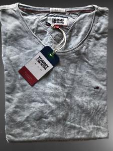 Tommy Hilfiger Jeans Men's T-Shirt Size XL , Slim Fit, GREY Color, Crew Neck