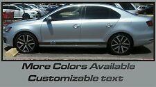Volkswagen Jetta Turbo R type Rocker Panel Vinyl Graphics Decals Side Stripes .
