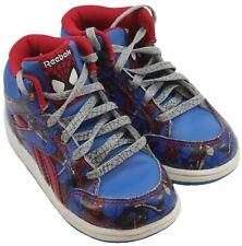 Reebok Toddler Boys Spiderman Red Blue Hi-Top Sneaker Size 8