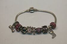 Chamilia Silver Cham Bracelet w/ 9 Charms - 43.3g 925