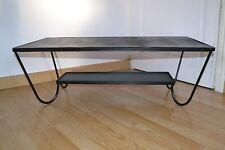 Magnifique table basse en métal laqué noir DESIGN 50'S