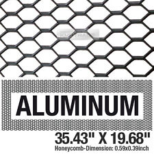 "Black Honeycomb Hex Mesh Aluminum Grille Fog Custom Kit 35""x19"" For All Vehicle"