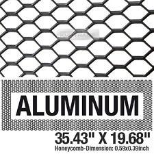 Black Honeycomb Hex Mesh Aluminum Grille Fog Custom Kit 35x19 For All Vehicle Fits 2004 Honda Civic