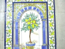 "Ceramic tile art Mosaic wall mural Lemon Tree floral BACKSPLAH  18"" x 24"""