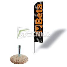 Bandiera a vela RACING Beta Tools 9561V altezza 4 mt x 0,75 mt + base in pietra