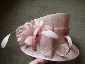 Ladies Hat Box wedding hat races formal hat Dusky Pink