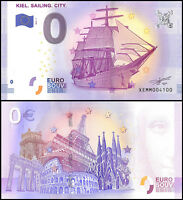 Zero - 0 Euro Europe, 2017 - 1 - 1st Print,UNC,Ship,Kiel Sailing City in Germany