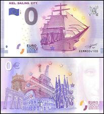 Zero (0) Euro Europe, 2017 - 1 (1st Print),UNC,Ship,Kiel Sailing City in Germany