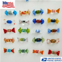 Wedding Party Candy Home Decorations Vintage Murano Glass Sweets 12pcs