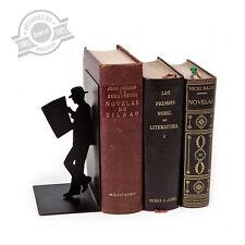 Balvi - The Reader sujeta libros decorativo de metal en color negro. Diseño orig