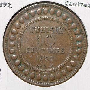 Tunisia 1892 AH 1309 10 Centimes  191292 combine shipping