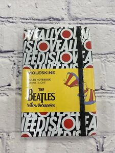 New Moleskine The Beatles Yellow Submarine All You Need Is Love Ruled Notebook