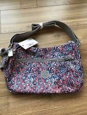 Nwt Kipling Sally Cross Body Bag Fainted Floral Pattern W/Gorilla