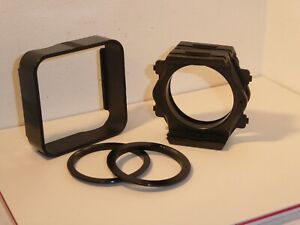 2 GENUINE COKIN A FILTER HOLDERS Plus JOINEER , HOOD + 55mm & 52mm ADAPTER RINGS