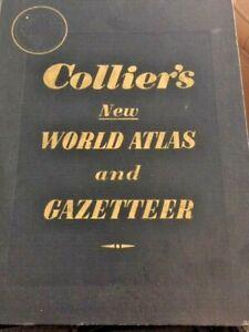 Collier's World Atlas and Gazetter Pristine 1953- Rand McNally