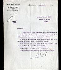 """LAVERDINES / NERONDES (18) DISTILLERIE """"J. BRUIS Régisseur"""" en 1932"""