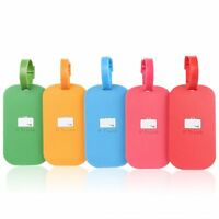 Silicone Luggage Tags, Travel Tag For Baggage Suitcase, Bag, Backpack, Pack of 5