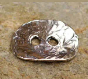 Sterling silver two-hole button