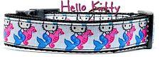 "Hello Kitty Mermaid dog collar Handmade adjustable buckle 1"" wide or leash"