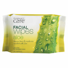DEEP CLEANSING ALOE FACIAL WIPES FACE MAKEUP DIRT REMOVER WET 25 PACK