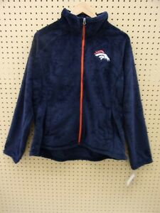 G-III NFL Denver Broncos Women's Field Goal Fleece Full-Zip Jacket (Navy, XXL)