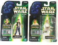 Star Wars Kenner Power Of The Force POTF Luke Skywalker Han Solo Comm Tech Chip