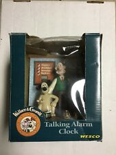 New RARE Wallace and Gromit Talking Alarm Clock collectible figure statue in box
