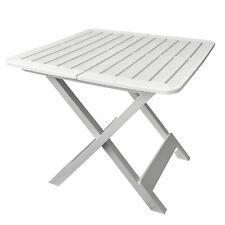 Gartentisch Velo 125x75cm Kunststoff Terrassentisch Weiß Balkontisch rechteckig