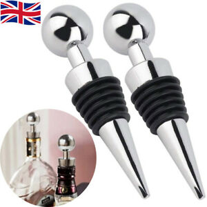 2pcs Champagne Wine Beer Bottle Stopper Preserver Seal Cap Saver Plug Vacuum Bar