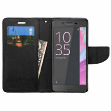 Sony Ericsson Xperia X Leather Flip Wallet Case Cover Magnet Clip Hybrid Stand