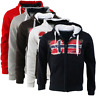 Felpa GEOGRAPHICAL NORWAY Gayto Uomo Men Full Zip Cappuccio SQ455H/GN