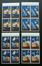 Antigua Space New Tracking Station 1968 Rocket Astronomy (stamp blk 4 MNH