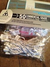 Strand Clear -White Wire Steady Xmas,Wedding, Birthday Lights -50 Bulbs, 23' ,