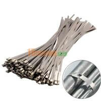 100 Hitzeschutzband Edelstahl Auspuff Band Metallkabelbinder Stahlband 4.6x300mm
