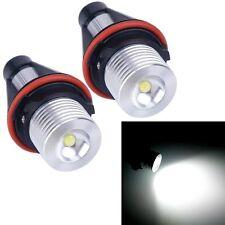 2x 7000K 5W ANGEL EYES LED HALO Ring Marker Light For BMW E39 E53 E60 E61 TSUS