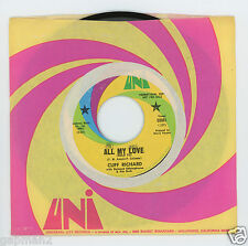 Cliff Richard 1968 UNI 45rpm All My Love b/w Our Story Book