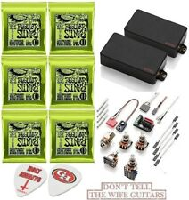 EMG GH Set Black Gary Holt 81 + 89R Humbucker Set Short Pots (6 EB STRING SETS )
