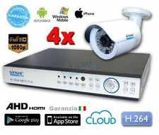 Kit Videosorveglianza 4 telecamere AHD 3MPX 1080P completo di HD 1000 GB e DVR