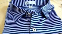 NWT Peter Millar men's size medium short sleeve golf polo shirt, 2 toned stripe